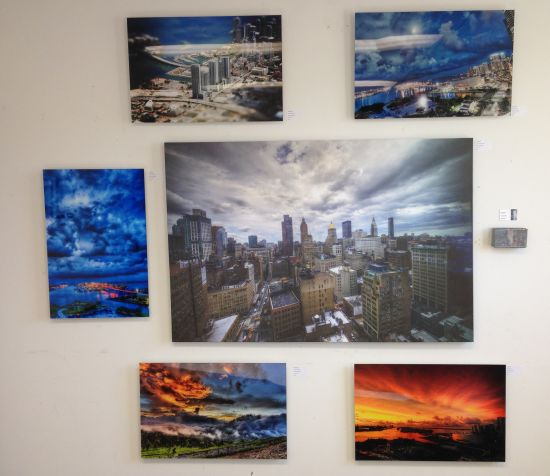 A suite of aerial views by Daniel Blank. Photo for East City Art by Eric Hope.