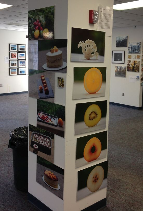 A selection of works by Jing Liu. Photo for East City Art by Eric Hope.