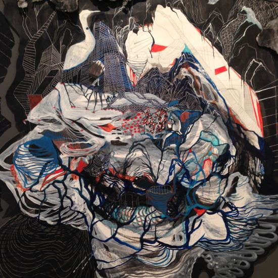 """Untitled, 2012 Mei Mei Chang Mixed media 55"""" x 40"""" Courtesy of the artist. Photo by Eric Hope for East City Art."""