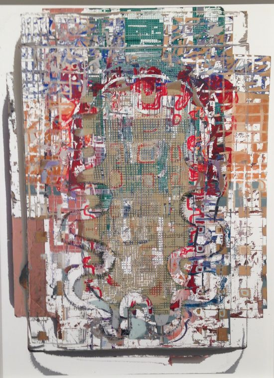 """Jay Hendrick Four Erased Paintings, 2013 Archival inkjet print on fie art photo rag paper, Edition 1/10, 35"""" x 25 1/2"""" Courtesy of the Artist. Photo by Eric Hope for East City Art."""