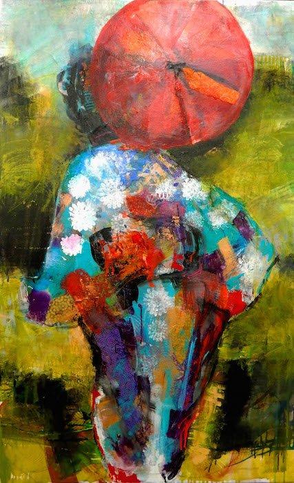 Hurry Up by M. Jane Johnson. Courtesy of ArtSee and Arts Club of Washington.