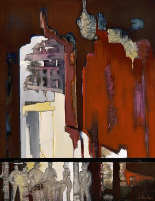 The Red Fort Mixed Media on Canvas by Renee DuRocher. Courtesy of Zenith Gallery.
