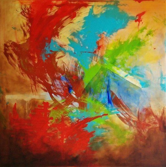 Cerberus Alain Villardo 48x48. Courtesy of artdc Gallery.