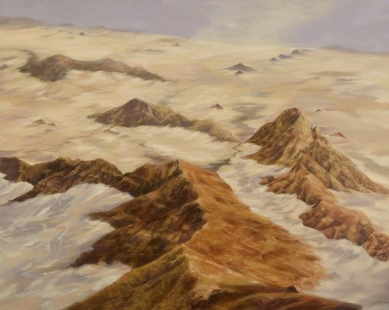 "Freya Grand Damaraland, oil on canvas, 48"" x 60"". Courtesy of Gallery plan b."
