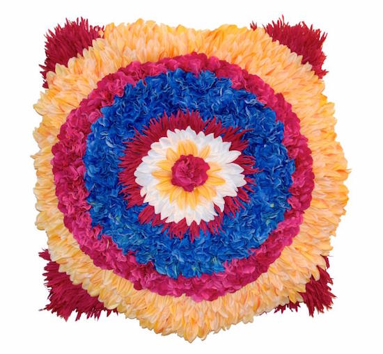 radial expansion, 2015, 2.5' x 2.5', faux flowers, fabric. Courtesy of Anacostia Art Center.