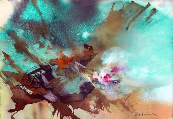 Aquamarine by Hebert Sanchez. Courtesy of Aaron Gallery.