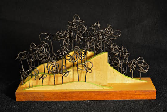 Trees and Hills mixed media sculpture. Courtesy of the artist.
