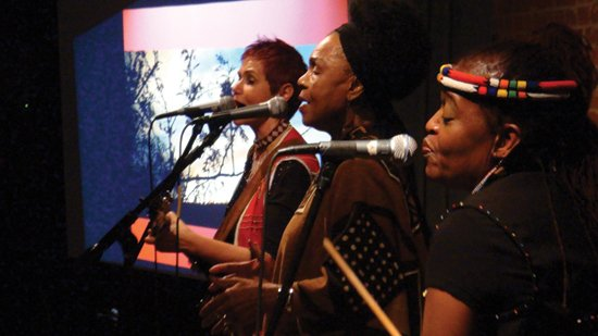 South African legend Abigail Kubeka and Peace Train's Sharon Katz live at the Corner Store.  Image courtesy Corner Store Arts.