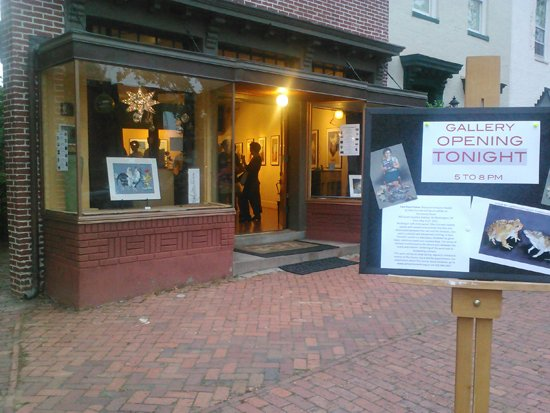 Gallery opening at the Corner Store.  Photo by Phil Hutinet for East City Art.