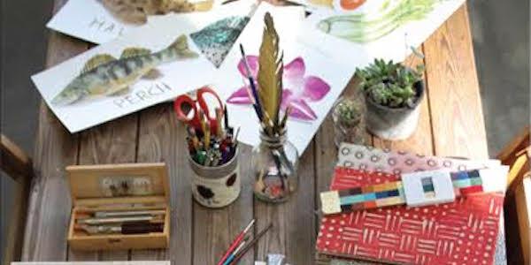 Wild Hand Workspace Presents A Hand Drawn Feast by Marcella Kriebel