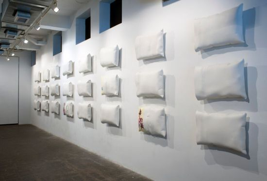 Saturated With the Subconscious; installation view. Megan Van Wagoner and Eric Thor Sandberg. Photo courtesy of Flashpoint Gallery and Brandon Webster Photography.