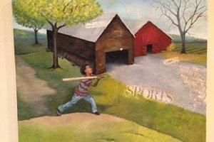 Work by Paula Ceggett courtesy of Hill Center Galleries.