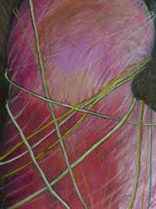 "Lois Kampinsky, Rebound #1, 40"" x 30"", Oil on canvas. Courtesy of Studio Gallery."