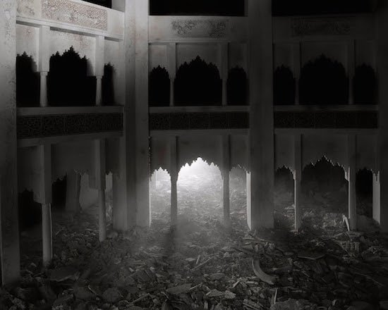 Wafaa Bilal, The Ashes Series: Dark Palace, 2003–2013. Archival inkjet photograph, 40 x 50 in. Edition of 5. Image Courtesy of Driscoll Babcock Galleries.