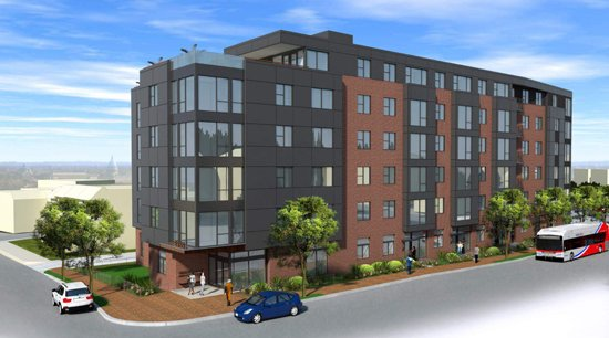 Rendering of 2255 Martin Luther King, Jr. Avenue SE which breaks ground this fall.  Image courtesy Four Points Development LLC