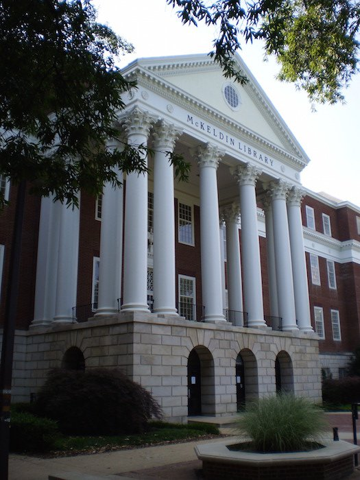 """""""UMD McKeldin lib"""" by Bgervais - Own work. Licensed under CC BY-SA 3.0 via Wikimedia Commons."""