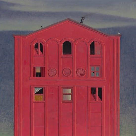 """Pink Theatre, 24""""x24"""", oil on panel. Courtesy of Morton Fine Art."""