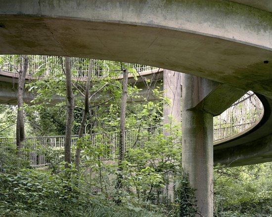 Adam Davies Clara Barton Pedestrian Bridge, Potomac MD. Archival Pigment Print.