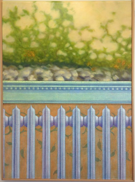 """Dry Bed, (2015) Peter B McClintock 40 1/2"""" x 30"""" x 2 3/4"""" oil on linen Photo for East City Art by Eric Hope."""