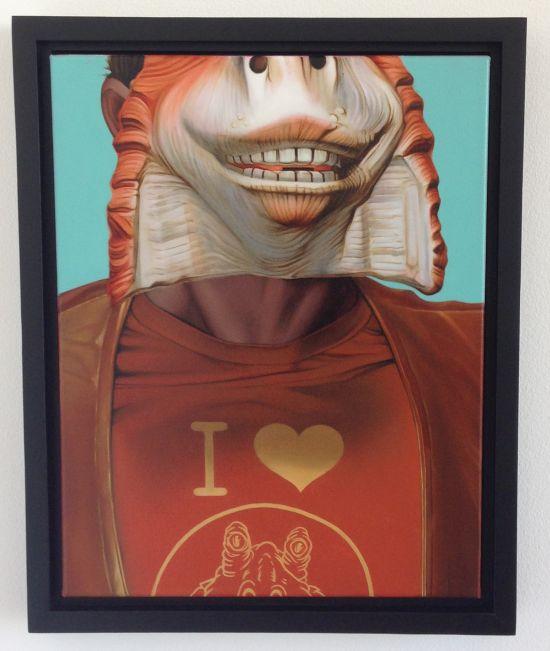 Self Portrait As Jar Jar Binks Andrew Wodzianski Photo for East City Art by Eric Hope.