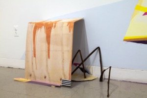 Ben Piwowar, Skitter index (detail), 2015, objects, paint, drawing, dimensions variable. Courtesy of VisArts.