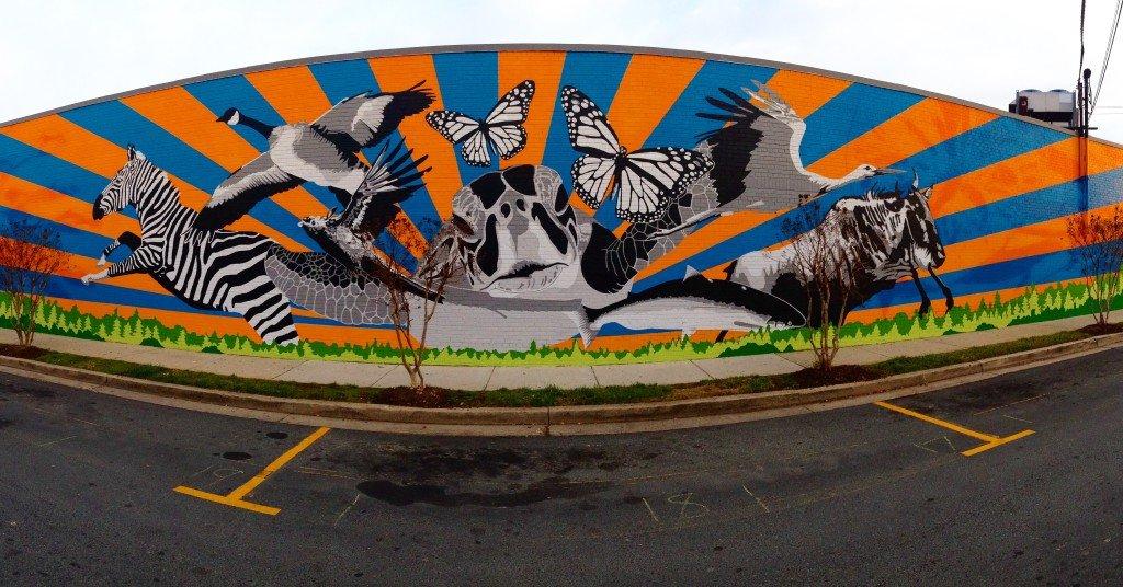 Holton Lane Mural. Courtesy of Peter Krsko for East city Art.