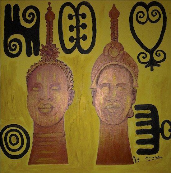Work by Edwina Sage Washington and Pierre-Antoine Goho Collaborating Artists. Courtesy of The Art Critique Group.