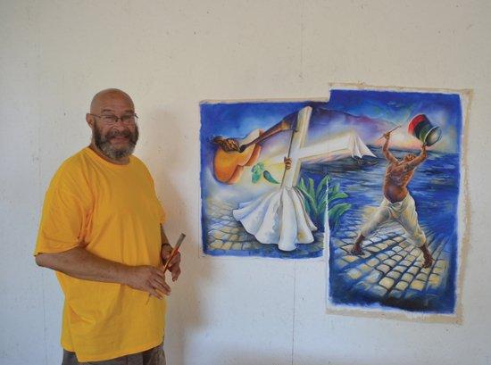 Rik Freeman at the Instituto Sacatar, Bahia, Brazil. Photo by Tom Correia.