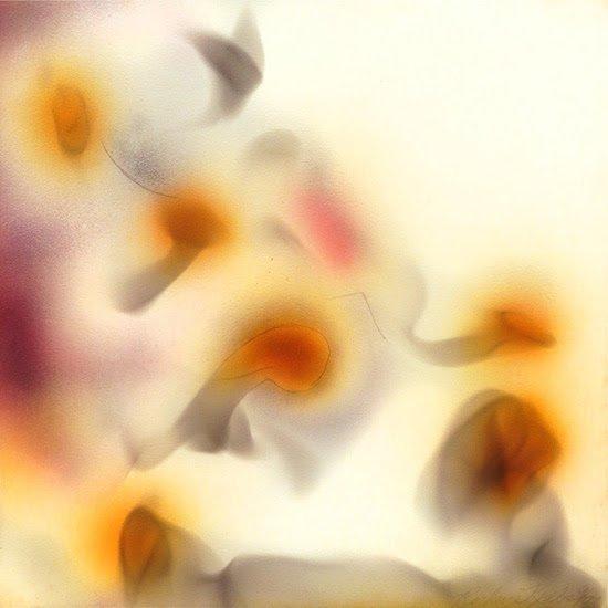 "Untitled, 9/73 by Rockne Krebs, 1973, smoke, airbush on paper, 12"" x 12"". Courtesy of HEMPHILL."