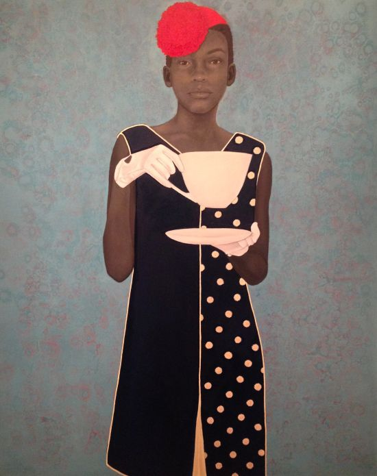 Miss Everything (Unsuppressed Deliverance) by Amy Sherald Oil on Canvas; 2013 Frances and Burton Reifler © Amy Sherald Photo for East City Art by Eric Hope.
