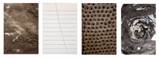 Image details (left to right): Zac Benson, God is Greater, 2016; C.W. Brooks, The Pattern of the Thing Precedes the Thing, 2016; Kevin Hird, Better give it the old spit polish, 2015─2016; Dominique Wohrer, Squad, 2016. Courtesy of the Stamp Gallery.