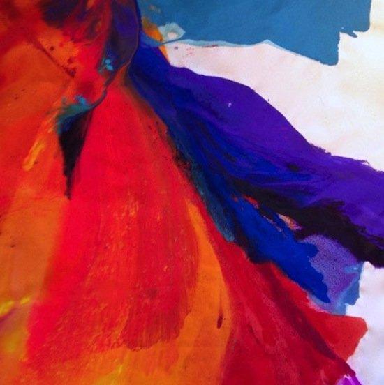 "Barbara Januszkiewicz, Unchain My Heart, 2016, acrylic on unprimed canvas, 60"" x 48"". Courtesy of t he Verizon Gallery."