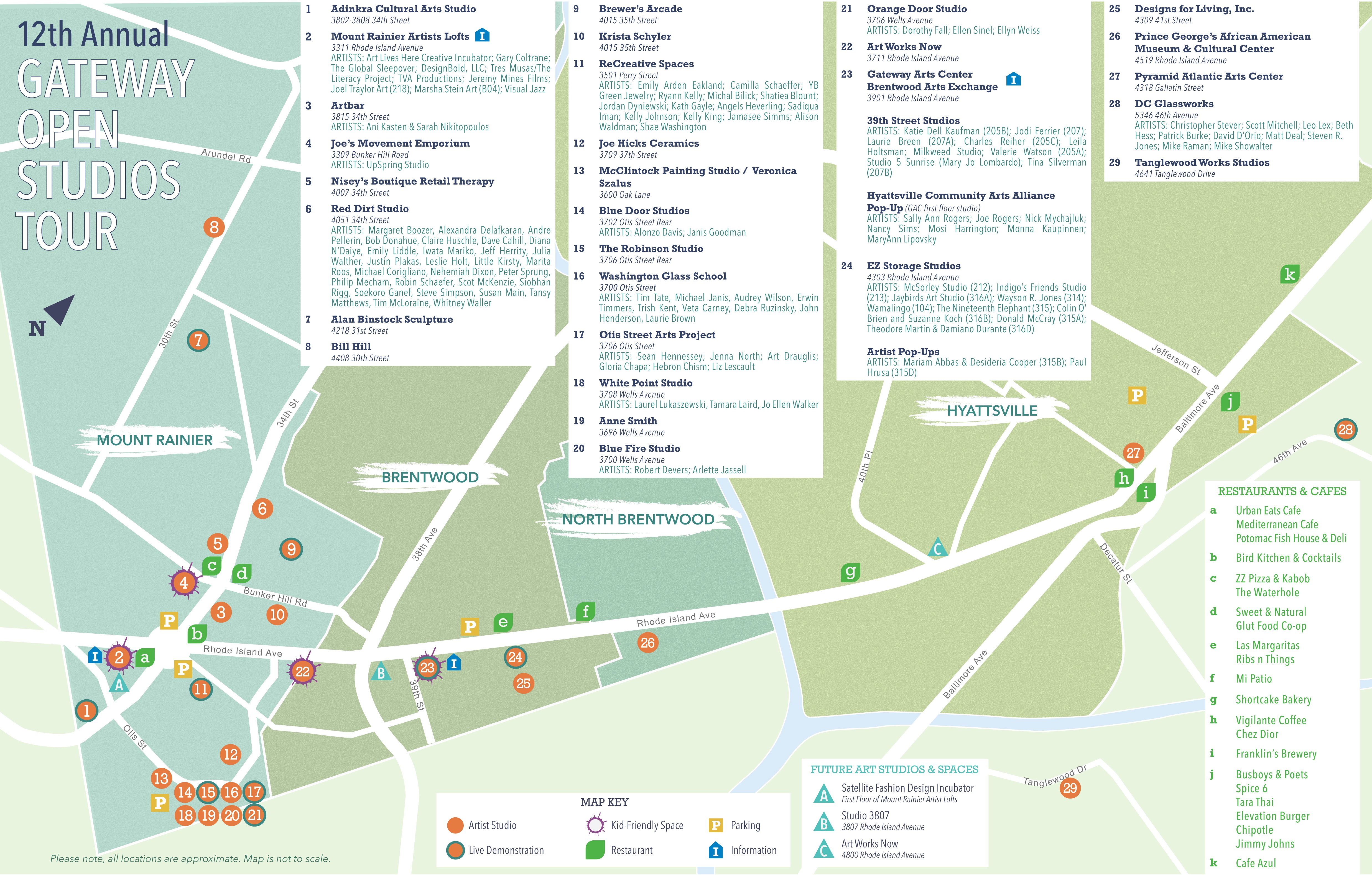 Click above to download a printable PDF copy of the 2016 Gateway OST Map.
