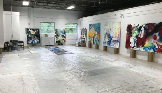 The cavernous studio of Anne Marchand is larger than many of the galleries in which she exhibits!