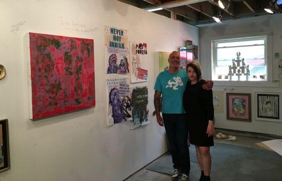 Jeff Herrity and Britt Law in Herrity's new Gallery 25 worshop.