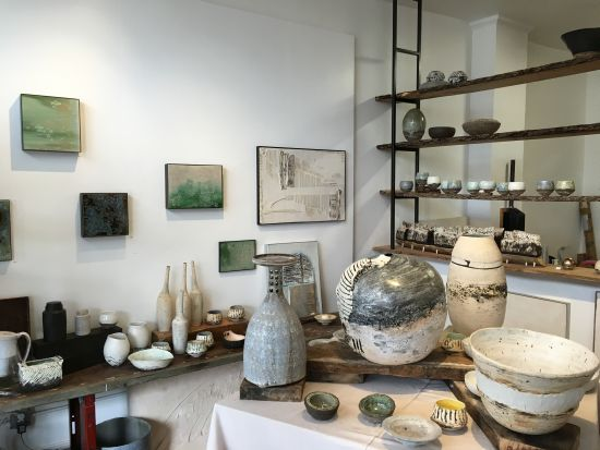 Artbar, the gallery and studio space of Ani Kasten, featured a variety of sculptural objects and functional pieces for the home.