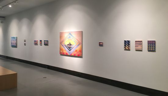 Dan Perkins includes both small and large-scale works in this exhibition. Photo for East City Art by Eric Hope.