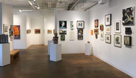 Touchstone Gallery's 40th anniversary members' exhibition. Photo for East City Art by Eric Hope.