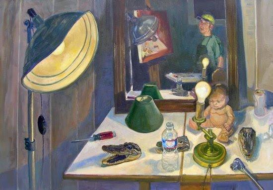 "Night, Mount Gretna, 2014-2015 oil on linen, 36 x 48"" by Brian Kerdydatus. Courtesy of Washington Studio School."