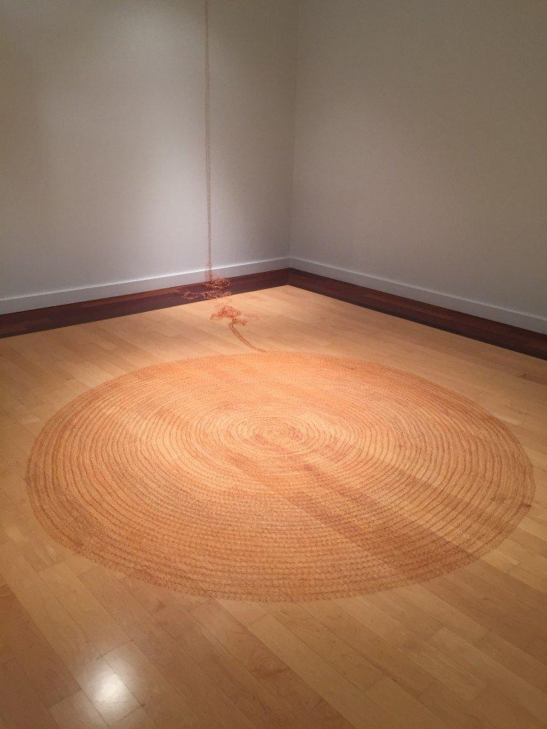 "Sarah Zuckerman Dolan, Lengsel, 2016, woven copper wire 89"" diameter installation dimensions variable, Photo by Jay Hendrick"