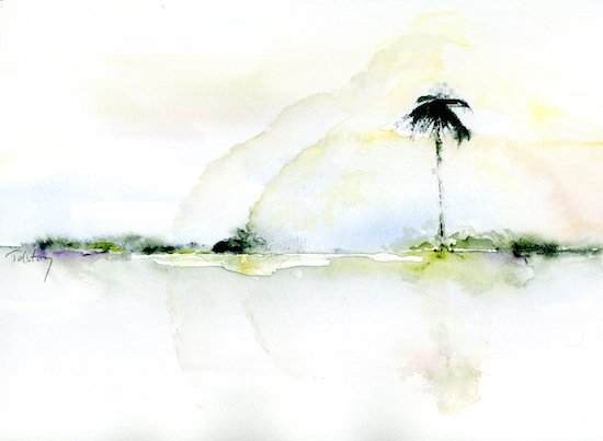 The Lone Palm by Alex Tolstoy. Courtesy of the artist.