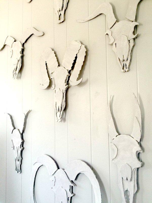 Toni Hitchcock installation at Manifesto (skulls). Image courtesy of the artist.