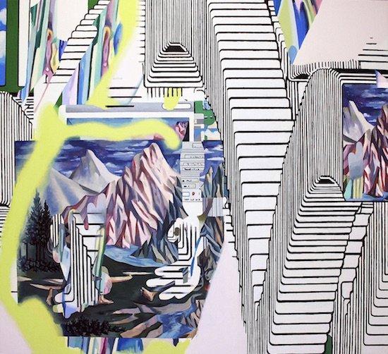 "alt 236, Sarah West, 2016 oil on canvas, 50""x54.5""x2"". Courtesy of DCAC."