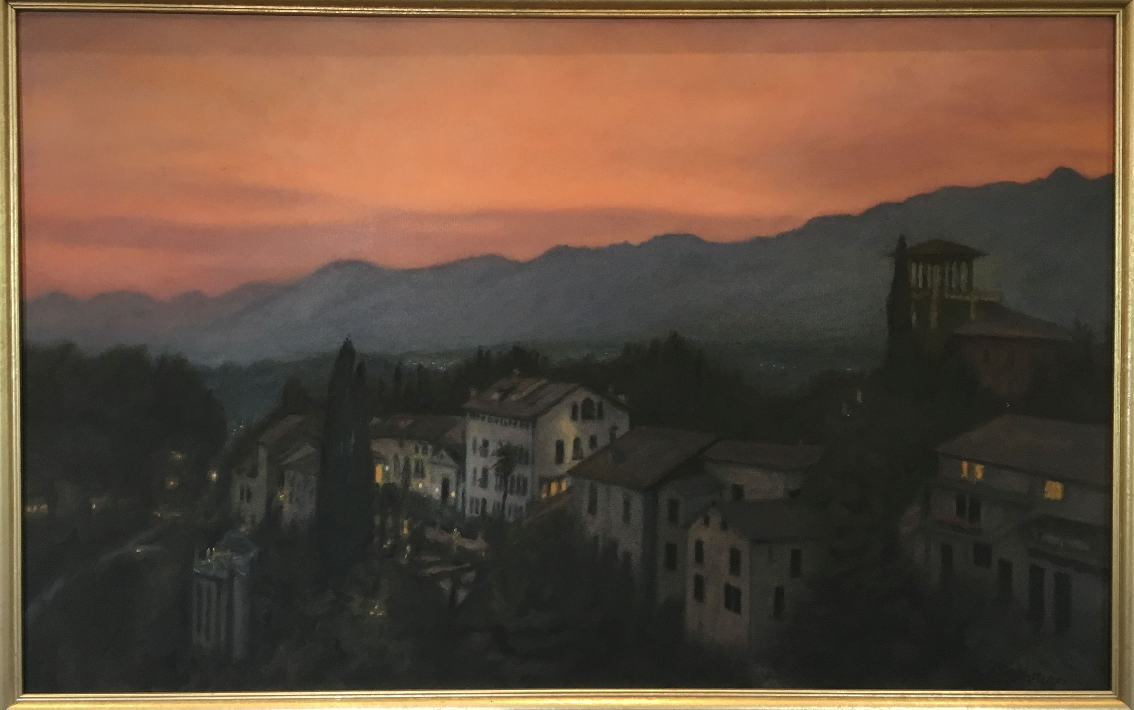 Asolo Sunset Ken Bachman Photo for East City Art by Eric Hope.