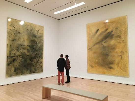 The new museum contains galleries large enough to host massive works such as these two Sigmar Polke canvases. Photo for East City Art by Eric Hope.