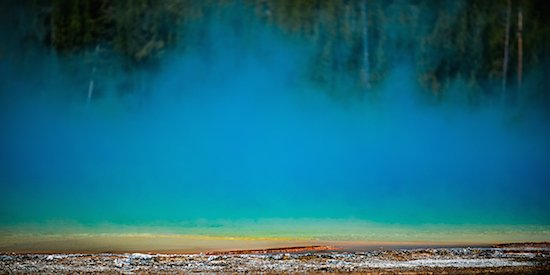 Yellowstone Thermal Zone 13 by Pete McCutchen. Courtesy of Touchstone Gallery.
