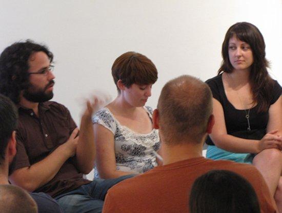 Past Sparkplug members Matt Smith, Blair Murphy and Chandi Kelley. Courtesy of DCAC.