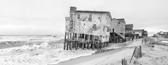 """Miller Taylor, E Seagull Dr, Nags Head, NC, 2015, Archival Inkjet Print on 100% Cotton Photo Rag, 10"""" x 25.5"""". Courtesy of Carroll Square Gallery."""