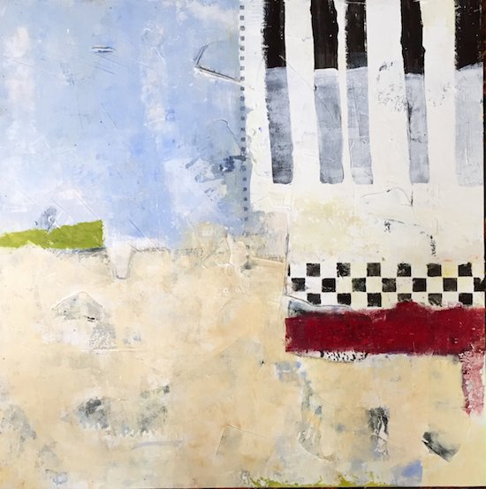 Charlene Nield Beach Two, acrylic on panel. Courtesy of Foundry Gallery.