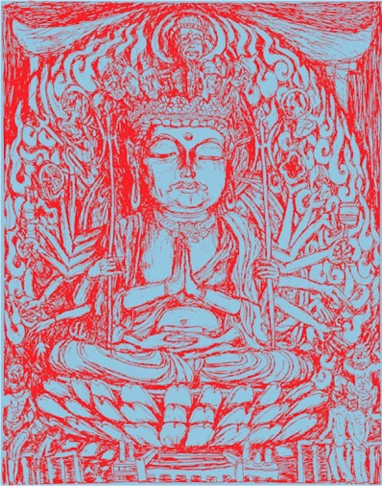 Sky Buddha by Sidney Lawrence. Courtesy of the artist.